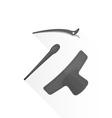 flat hairdresser barrettes pins icon set vector image