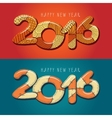 Happy new year 2016 Decorative vintage vector image