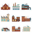 industrial factory buildings with pipe and bad vector image