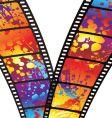 rainbow zip film vector image