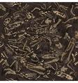 seamless dinosaur bones pattern vector image