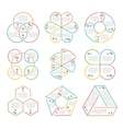 line circle triangular hexagonal vector image
