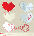 hearts paper 2 380 vector image