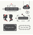 wedding invitation design element editable vector image