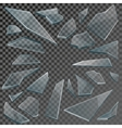 Realistic shards of broken glass with transparency vector image vector image