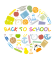 back to school school icons vector image