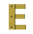 wood letter E vector image