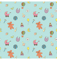 Seamless pattern for fabric with children toys vector image