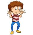 Boy wearing a stripes shirt vector image