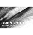 Hand drawn business card for graphic designer vector image
