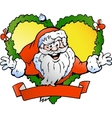 Hand-drawn of an Welcoming Santa Claus vector image vector image