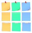 Beauty Post-it note Collection col-02 vector image