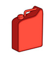 canister for gasolineoil single icon in cartoon vector image