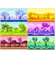 Cartoon Landscape Collection vector image