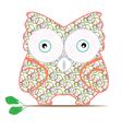 cartoon owl pattern vector image