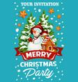 christmas holiday celebration party invitation vector image