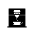 Coffee machine icon Flat design vector image