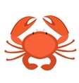 Crab icon flat style Isolated on white background vector image
