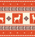 ethnic textile pattern with lamas vector image