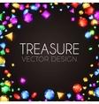 Falling Multicolor Gems vector image