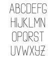 Light thin hand drawn font type alphabet vector image