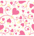 seamless background heart vector image