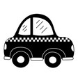 silhouette taxi car vehicle to transport service vector image