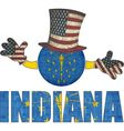 Indiana ball with American hat and hands vector image