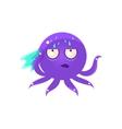 Sweating Funny Octopus Emoji vector image vector image