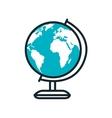 world planet sphere school supply vector image