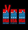 usa patriot hand set american force fist us vector image