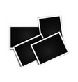 photo cards frame blank vector image