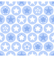 Geometric blue kids seamles pattern vector image
