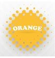 orange splash background vector image vector image