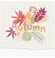 autumn notepaper vector image