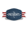Happy Presidents Day blue striped Label vector image