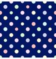 Pastel Rainbow Colorful Polka dot Blue vector image