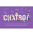 Chatbot concept vector image