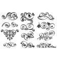 decorative design elements Calligraphic elements vector image