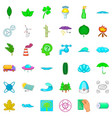 ecology icons set cartoon style vector image