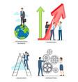 international business on vector image