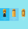 order taxi app screens vector image