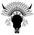 tribal warrior style wild animal skull vector image