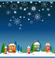 winter urban landscape christmas and new year vector image