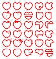 Hearts line symbol vector image