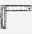 Setsquare symbol vector image vector image