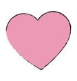 love heart romantic valentine symbol vector image