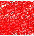 lettering valentines seamless vector image vector image