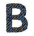 Farmerke tekstura slovo B vector image vector image