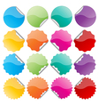 colorful bended seals vector image